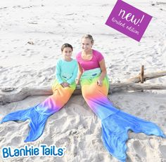 Climb inside the colorful-coziness of our NEW Limited Edition Rainbow Ombre Blankie Tails™! Feel like Ariel from the little mermaid in our Rainbow-Ombre Blankie Tails™ made from premium grade, super soft, double sized minky fleece with minky dot embellishments around the top, and a gorgeously sewn tail cascading with color, which you can slide your feet into.