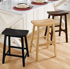 I need some sttols for the breakfast nook and these are simple but look great!