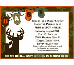 50 Printed Camo Invites This Is Cute. We Could Mix In Orange Or Brown  Chevron