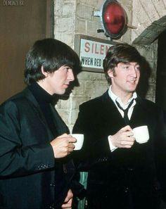 George and John enjoying a nice cuppa.
