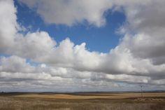 Wide blue sky over Palencia#Spain