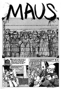 Graphic Novel: Maus, by Art Spiegelman Comic Book Characters, Comic Books Art, Comic Art, Maus Art Spiegelman, English Posters, Nonfiction Text Features, Converse, Book Review Blogs, Forrest Gump