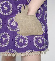 Bunny pocket! Love the fabric too!