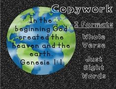 I made this sheet as the beginning of a Bible unit I'm hoping to make. Providing I can find graphics, my goal is to work through the whole Bible. Cain And Abel, In The Beginning God, Genesis 1, Bible Words, Sunday School Lessons, Adam And Eve, Sight Words, To Focus, Forgiveness