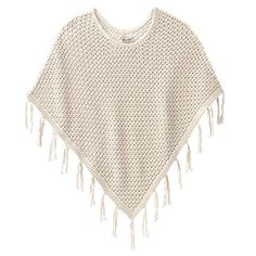 Mudd Crochet Poncho - I used to have a poncho just like this. I got rid of it and regretted it for a few years. I found this in the girls section and Kohl's. I am so short that a s/m fit me perfectly:-)