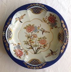 Vintage Daher Round Tin Floral Serving Bowl by CoolOldStuffIFound, $15.00