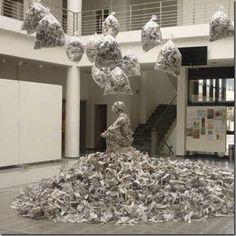 Amazing Paper art by Dimosthenis Prodromou Greek Art, Gay Art, Paper Art, Christmas Tree, Holiday Decor, Amazing, Artist, Home Decor, Teal Christmas Tree