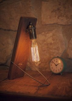 desk lamp reclaimed wood wooden table lamp industrial lighting reclaimed wood edison bulb
