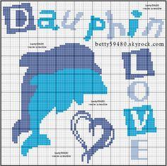 animaux - animals - dauphin - point de croix - cross stitch - Blog : http://broderiemimie44.canalblog.com/