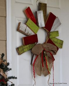 12 Days of Christmas, Day 9, Scrappy Wreath