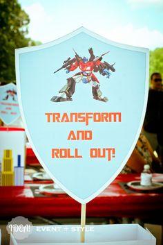 Cute Transformers centerpiece #transformers