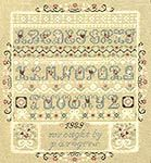 Free Cross Stitch Sampler Patterns | ... of Hearts and Lace Sampler (cross-stitch pattern) by Pat Rogers