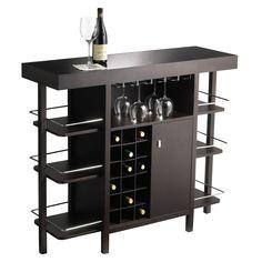 Shop for Baxton Studio Modesto Brown Modern Dry Bar and Wine ...