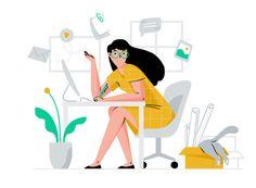 — Illustration on Behance Website Illustration, Flat Design Illustration, Simple Illustration, Business Illustration, Character Illustration, Digital Illustration, Graphic Illustration, Web Design, Web Layout
