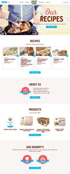 Grannys Poultry (More web design inspiration at topdesigninspiration.com) #design #web #webdesign #inspiration #sitedesign #responsive