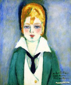 Portrait Of A Blond Woman Artwork by Kees Van Dongen