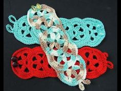 Crochet : Brazalete o Pulsera - YouTube