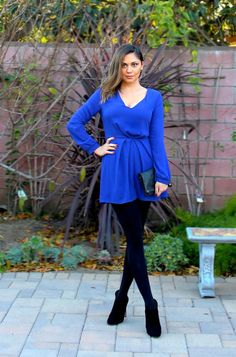 Holiday Dressing: winter romper with tights and booties