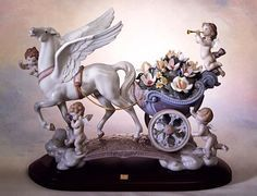 Lladro 01001848 CELESTIAL JOURNEY Issue Year: 1999 Retirement Year: 2008 Sculptor: Juan Ignacio Aliena Size: 34x46cm Base included Limited Edition 1500 pieces http://lladro.stores.yahoo.net/