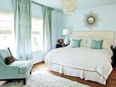 dormitorio matrimonial turquesa