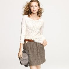 J.CREW Lady Lace Popover, it's on sale and I'm tempted