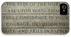Quote of Eisenhower in Normandy American Cemetery and Memorial iPhone and Samsung case - Ay RicardMN Photography