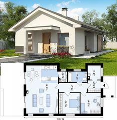 Проект Z329 предусматривает компактный одноэтажный дом, подходящий и для постоянного проживания, и для сезонного.