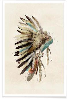 Headdress en Affiche premium par Brian Buckley | JUNIQE