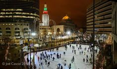 Ice Rink in Downtown Buffalo, NY <3