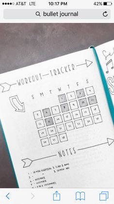 Workout tracker- mark the days you exercised, add workout notes below