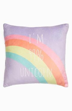 Capelli of New York I'm 99% Unicorn Pillow (Nordstrom Exclusive) #aff #unicorn #pillow #decor
