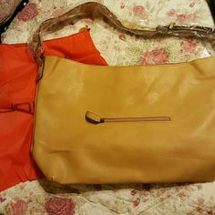 David Jones Vegan Leather Tote NWT David Jones Vegan Leather Tote in Camel with outside zippered pocket and small inside zippered pocket thick, adjustable shoulder strap. Comes with Dust Bag for storage.  I'm doing some quick posting for the 1/2 price sale to offer you ladies as many items as I can.  Please allow grace for the quick pics and short descrips. Check my feedback,  I am trustworthy.  During the sale I won't be able to measure, try on, etc....I promise more than fair pricing…