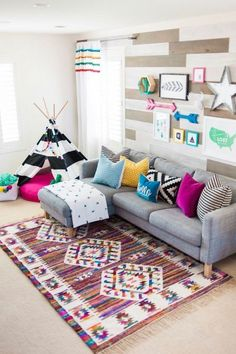 Majestic 17 Adorable and Cheerful Kids Playroom Ideas https://mybabydoo.com/2018/03/04/17-adorable-cheerful-kids-playroom-ideas/ If you have kids, you must be familiar with the situation when your kids play with anything at the house. That is why it is actually important to build a kids playroom, so that your children can play just in one room.