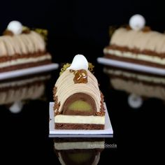 Mont Blanc torta s mandarinom i vanilije Fancy Dishes, Mousse Cake, Recipe For 4, Culinary Arts, Creative Cakes, Cupcake Cakes, Sweet Tooth, Bakery, Food And Drink