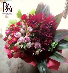 花ギフトのプレゼントBFM 夏から秋にかけての旬な花!ダリヤを使って!