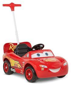 Disney Pixar Cars 3 Lightning McQueen Parent Steer Assist 6 Volt Ride On - Red