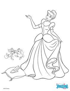 Princess Coloring Page Kleurplaat Prinses Disney