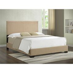 Varick Gallery Aedan Upholstered Panel Bed Size: Twin, Color: Brown