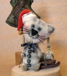 Christmas TeddyCatAgate,mini! LuckyCharmsKids by Mara+Grishina
