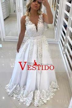 2017 Scoop Prom Vestidos Una Línea Tulle Con Applique Y Beads Sweep Tren  US  229.99 7541ab162564