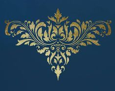 Damask Stencil for Walls Sheet Size: X inches X inches) Design Size: X inches X inches) Sheet Size: X 210 inches X inches) Design Size: X inches X inches) Made from durable 127 micron mil) Laser Cut Stencils, Leaf Stencil, Damask Stencil, Stencil Patterns, Stencil Art, Stencil Designs, Bird Stencil, Deco Paint, Art Furniture