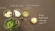 Les ingrédients de la recette de la crème hydratante