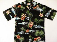 Vintage Hawaiian Shirt Rayon Hilo Hattie made in by TomCatBazaar