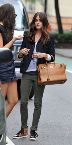 basics with a black blazer - Olivia Palermo