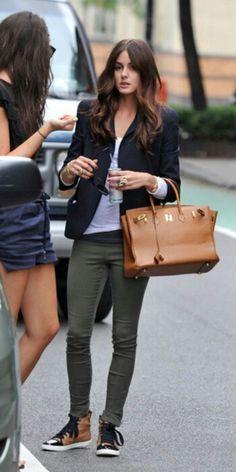 basics with a black blazer - Olivia Palermo