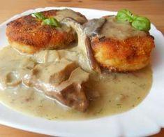 Kotlety ziemniaczane w sosie grzybowym - PrzyslijPrzepis.pl Potato Salad, Potatoes, Meat, Chicken, Ethnic Recipes, Food, Potato, Meals, Cubs