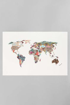 Incorporate your wanderlust spirit into your dorm decor!