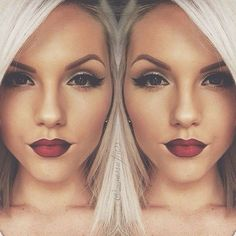 Imagem de makeup, lips, and blonde