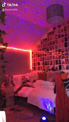 Neon Bedroom, Room Design Bedroom, Room Ideas Bedroom, Girls Bedroom, Diy Bedroom Decor, Dream Teen Bedrooms, Grunge Bedroom, Couple Bedroom, Girl Rooms