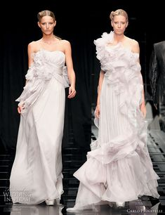 Romantic ruffle wedding dress ideas -- Carlo Pignatelli 2010 Opere couture bridal gown collection